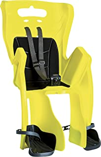 Bellelli Child Bike Seat, Rack Mount with CLAMP, Child Bike Carrier, Child Seat for Bikes, Bicycle Child Seat, Duck, Mounts on Existing Bicycle Rack, Yellow, Made in Italy