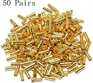 Hobbypower 3.5mm Male Female Gold Banana Bullet Connector Battery ESC Plug (Pack of 50 Pairs)