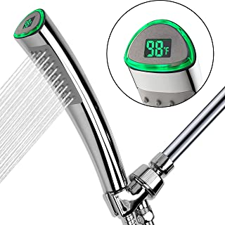 YOO.MEE LED Thermometer Handheld Shower Heads, Water...