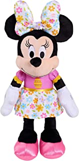 Disney Easter Large 19 Inch Plush Minnie Mouse in Spring Themed Dress and Oversized Matching Bow, Easter Basket and Presents