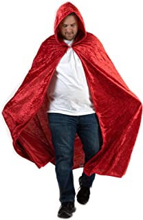 Hooded Cape for Adults | Men's Cloak with Hood for Halloween Cosplay Costume