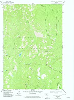 Montana Maps - 1974 Burnt Fork Lake, MT USGS Historical Topographic Map - Cartography Wall Art - 35in x 44in