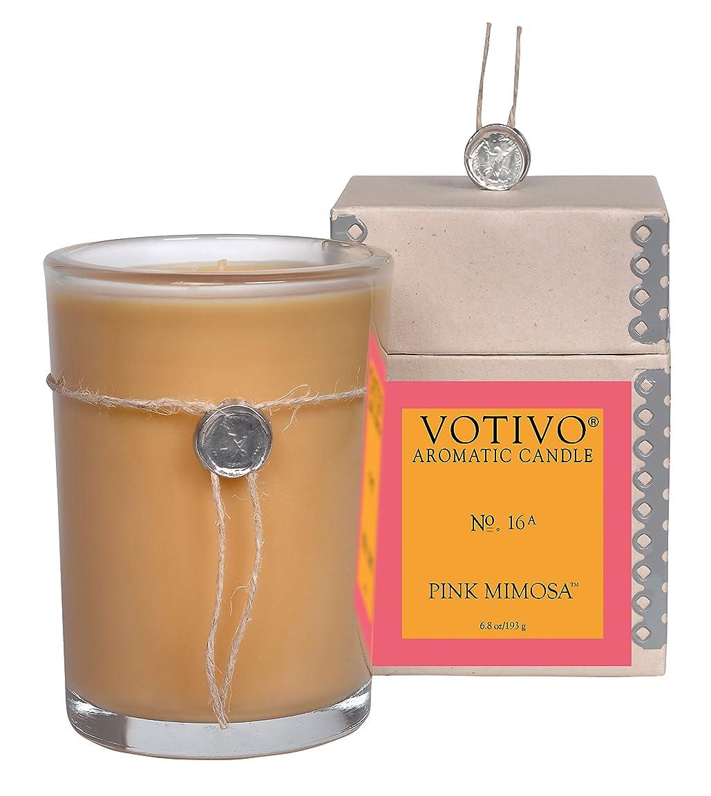 受粉するベイビーの中でVOTIVO アロマティック グラスキャンドル ピンクミモザ