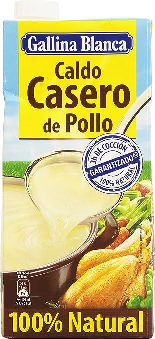 Gallina Blanca Caldo Casero De Pollo 100 Natural 1 L Pack De 2 Amazon Es Alimentación Y Bebidas