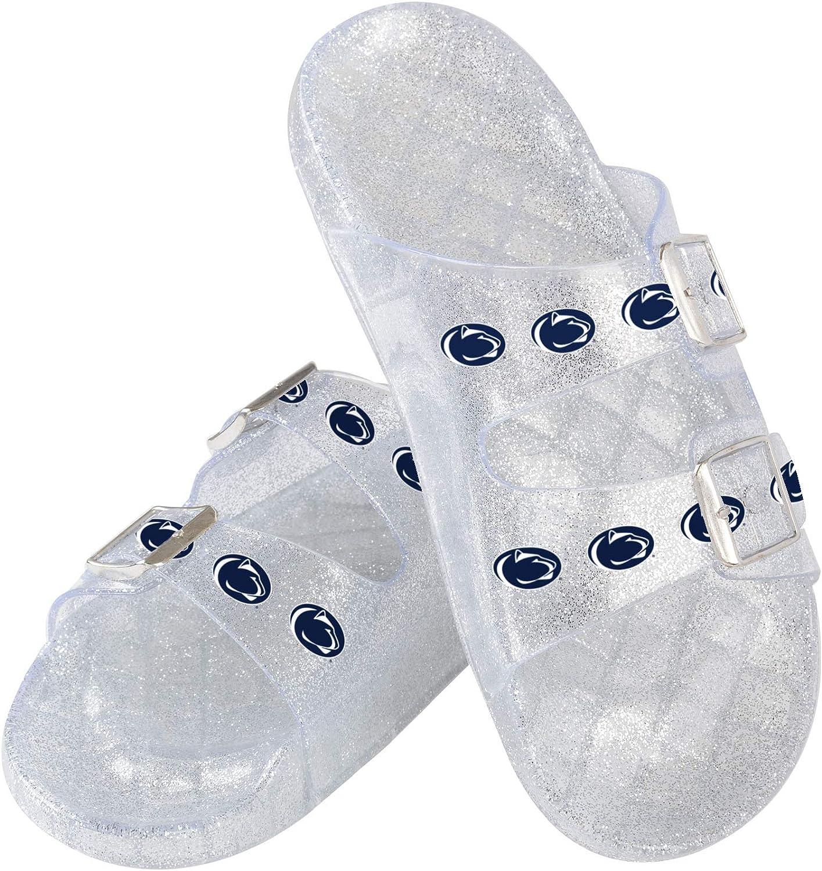 Penn State Nittany Popular Seasonal Wrap Introduction products Lions NCAA Double Buckle Sanda Womens Glitter