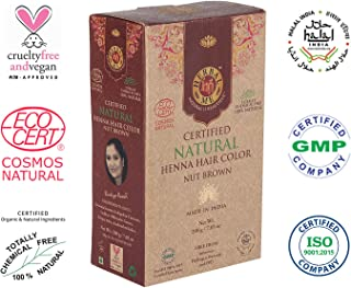 Herbal Me - Nut Brown Henna Hair Color 7.05 oz,CERTIFIED 100% Natural by Ecocert (France).VEGAN & HALAL approved, Zero chemicals