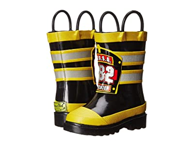 Western Chief Kids F.D.U.S.A. Firechief Rain Boot (Toddler/Little Kid/Big Kid) (Black) Boys Shoes