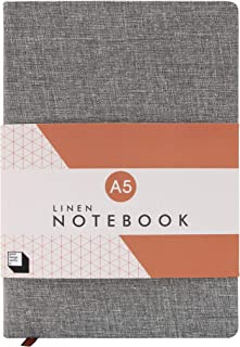 Good Design Works A5 Linen Notebook | Note Pad with Lined Paper | Office & School Supplies |Slate