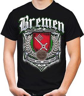 Für Immer Bremen Männer und Herren T-Shirt   Sport Fussball Stadt Fan