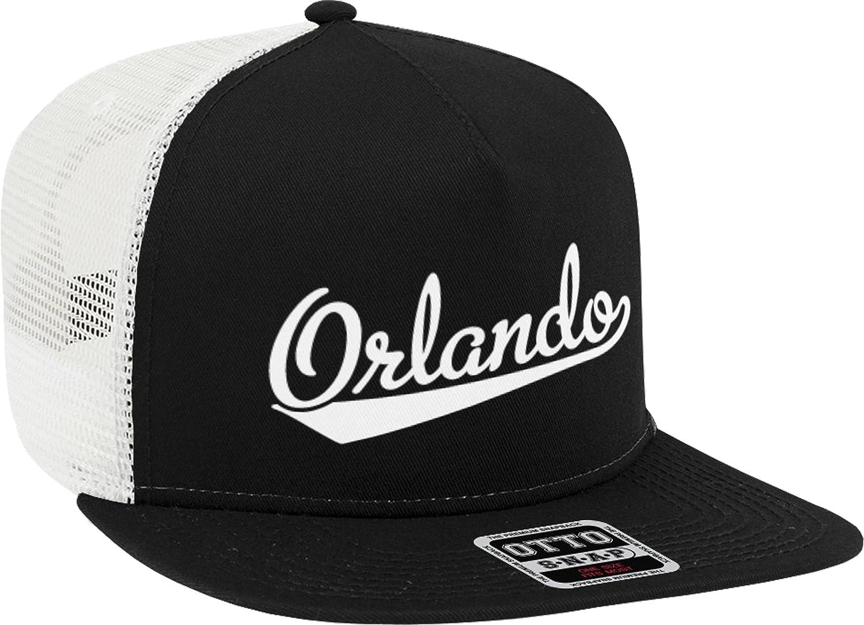 NOFO Clothing Co Orlando Script Baseball Font Snapback Trucker Hat