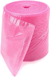 Luftpolsterfolie Rolle rosa Antistatisch 50 cm x 50 m / 100µ / 2-lagig / 10mm-Noppe  Verpackungseinheit: 1 Rolle