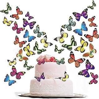 200 Stücke Schmetterling Kuchen Cupcake Toppers Party Kuchen Dekorationen für Geburtstagsfeier, Baby Shower, Hochzeit, Verschiedene Stile Bunte Stil