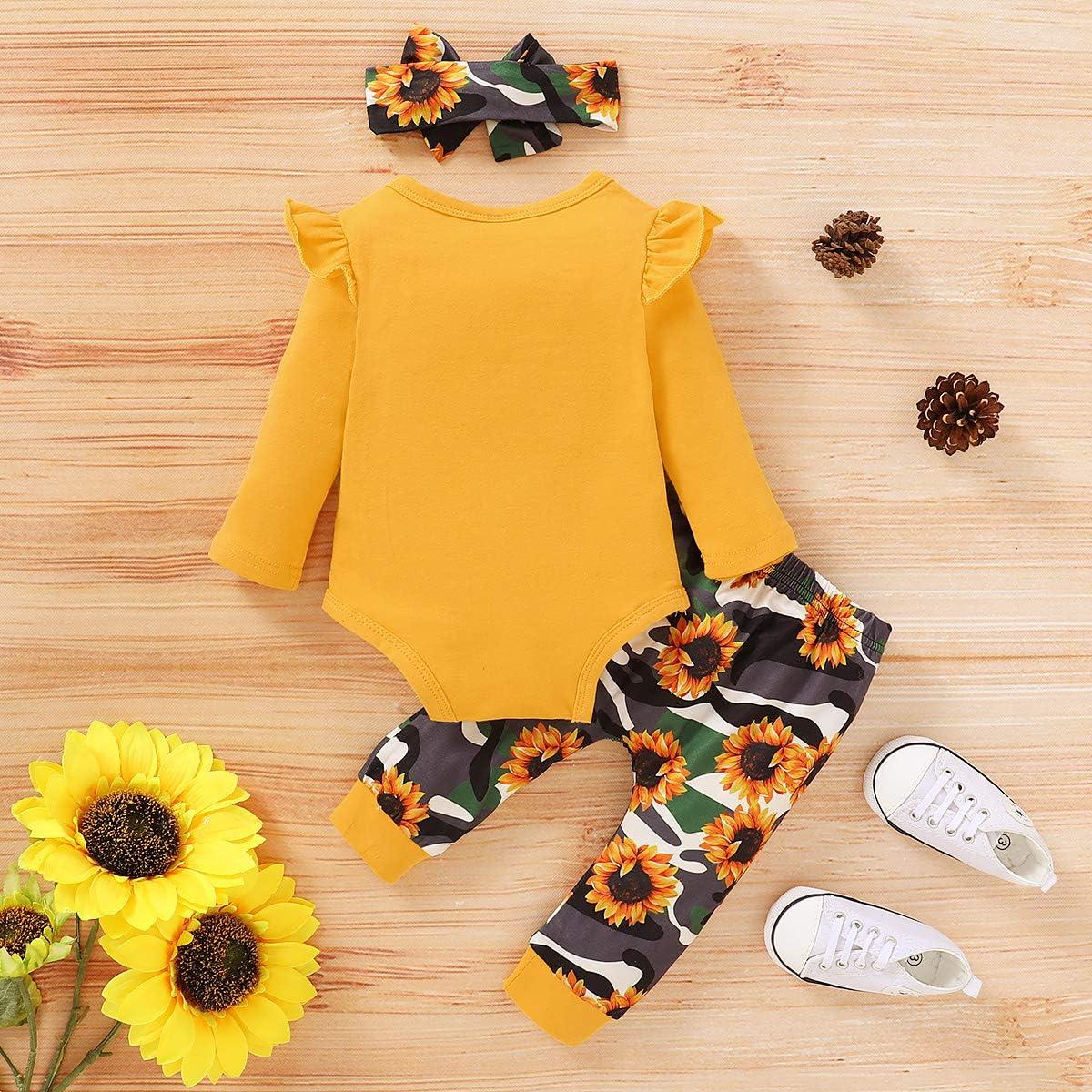 Newborn Baby Girls Knitted Shorts Set Cotton Ruffle Romper+Floral Shorts+Headband Summer 3Pcs Clothes Set