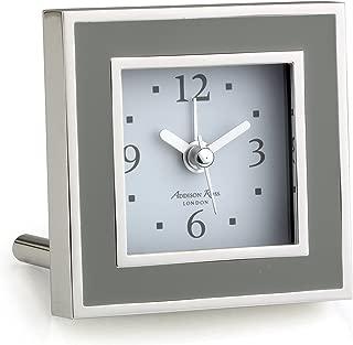 Addison Ross Taupe Enamel Alarm Clock