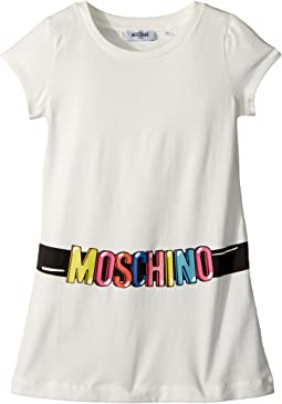 Moschino Kids - Short Sleeve Tunic w/ Logo Belt Graphic (Big Kids)