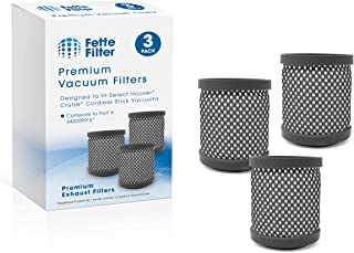 Fette Filter - Vacuums Filter Compatible for Hoover Cruise Cordless Ultra-Light Stick BH52210, BH52210PC, BH52200, BH52212. Compare to Part # 440009915 (Pack of 3)