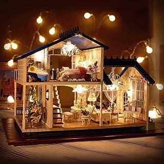 ドールハウス 手作りキットセット ミニチュア LEDライト付き オルゴール付き プロヴァンス