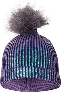 Metallic Kids Pom Pom Beanie - Warm Winter Hat