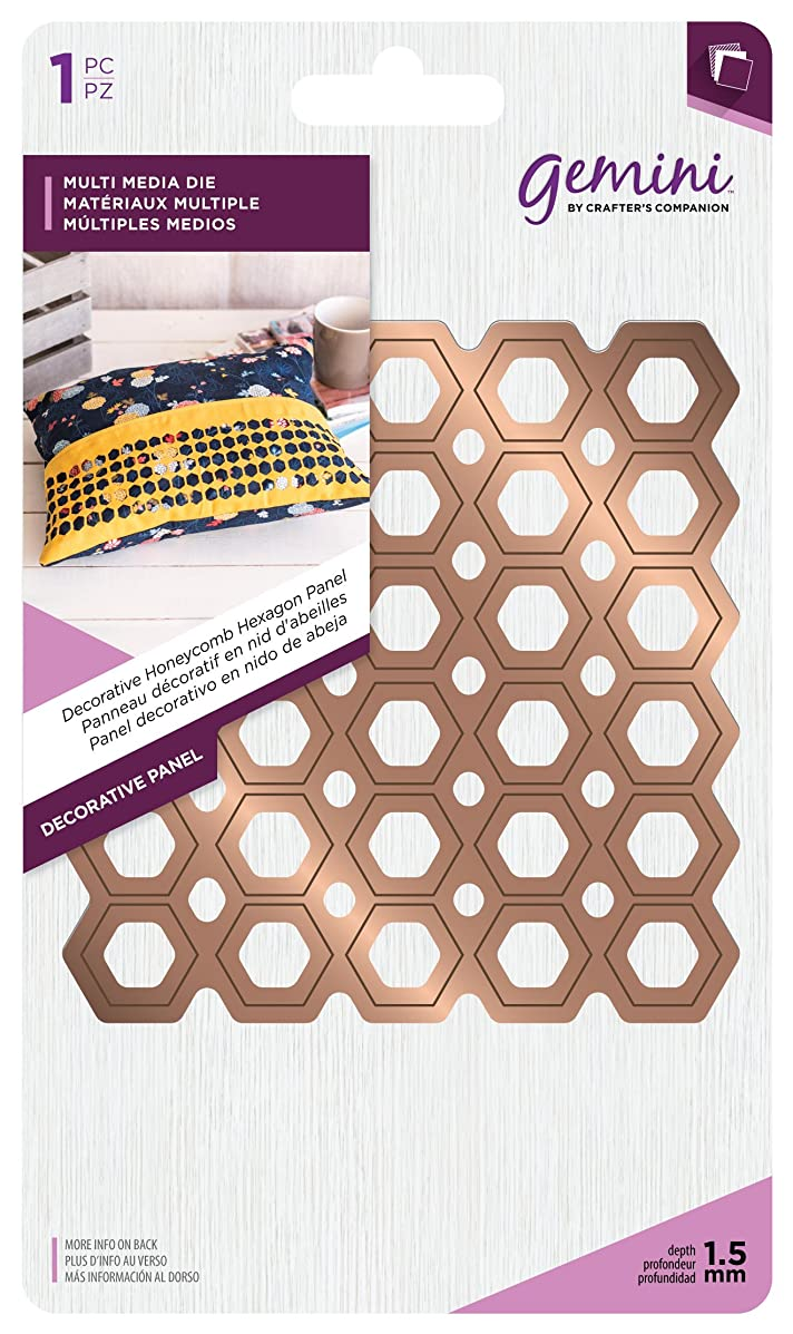 Gemini GEM-MD-MM-DP3 Metal Decorative Honeycomb Hexagon Panel Multi Media Die Various Size Bronze