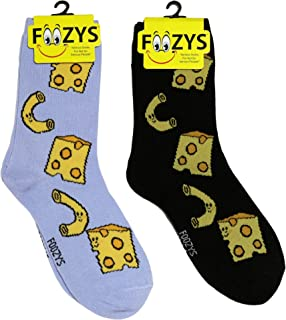 33bafce7eea5 Foozys Women's Crew Socks | Cute Fun Food & Drink Novelty Socks | 2 Pairs