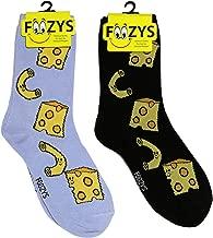 Foozys Women's Crew Socks   Cute Fun Food & Drink Novelty Socks   2 Pairs