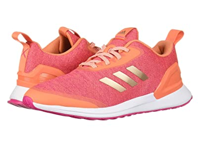 adidas Kids RapidaRun X (Big Kid) (Coral/Copper/Magenta) Girls Shoes