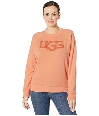 UGG Fuzzy Logo Crew Neck Sweatshirt (Beverly Pink) Women