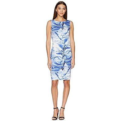 Nicole Miller Midi Dress (Blue Multi) Women