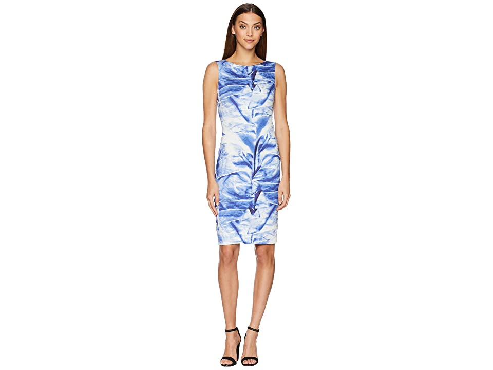 Nicole Miller Midi Dress (Blue Multi) Women