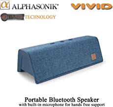 Alphasonik VIVID Home Wireless Bluetooth Portable Speaker with HD Sound and Bass, Built-in Mic, Micro USB, Auxilliary 3.5mm and Built in 2000mah long lasting Battery for iPhone, Samsung