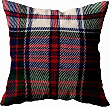 Capsceoll macdonald dress m original tartan square Decorative Throw Pillow Case 16X16Inch,Home Decoration Pillowcase Zippered Pillow Covers Cushion Cover with Words for Book Lover Worm Sofa Couch