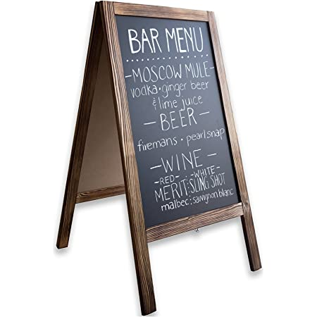 Amazon Com Wooden A Frame Sign With Eraser Chalk 40 X 20 Inches Magnetic Sidewalk Chalkboard Sturdy Freestanding Sandwich Board Menu Display For Restaurant Business Or Wedding Office Products