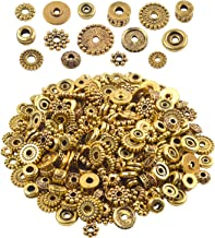 100 Gram(About 170-300pcs) Bali Style Antique Gold Spacer Beads Jewelry Findings Accessories for Jewelry Making Bracelet Necklace