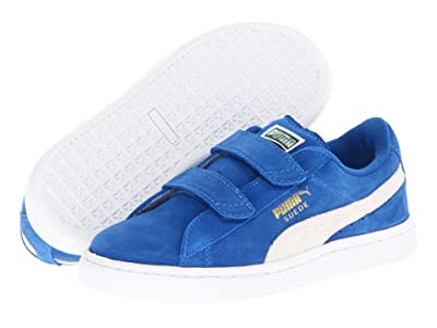 PUMA Kids Suede 2 Straps (Toddler) (Snorkel Blue/White) Kids Shoes