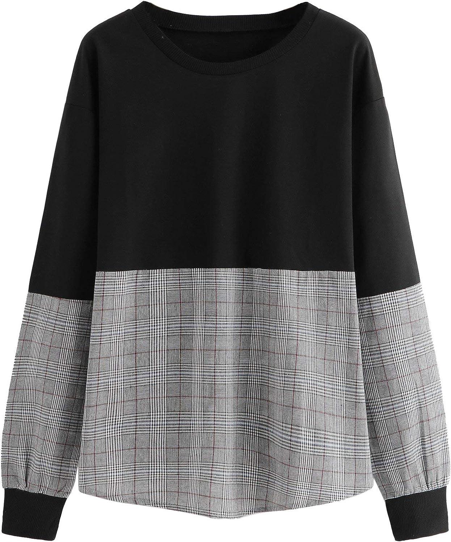 Milumia Women's Contrast Stripe Drop Shoulder Sweatshirt