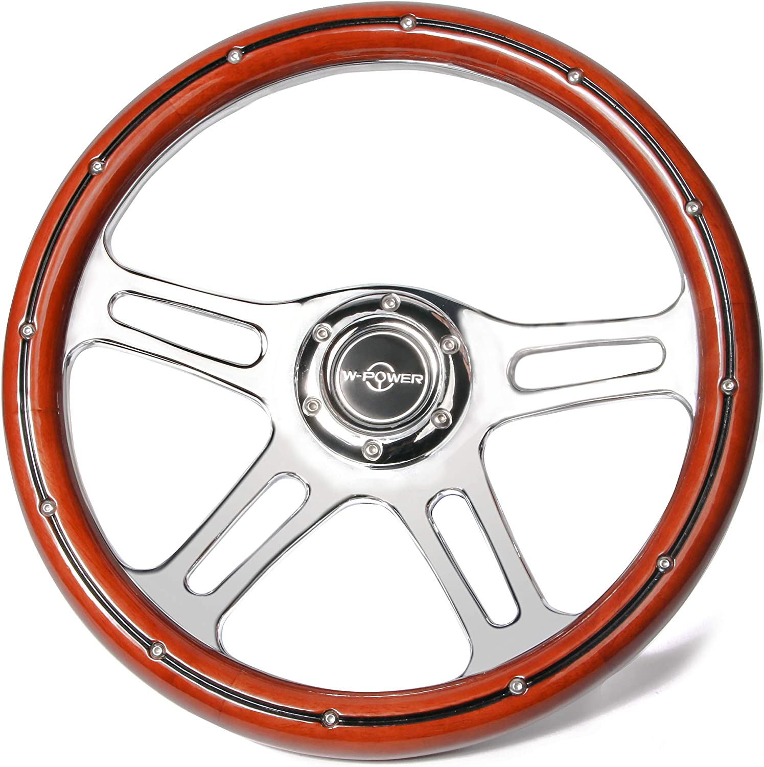 Universal 350MM Classic Wood Popular shop is the lowest At the price price challenge Steering Wheel W 14 Rivet Inch With