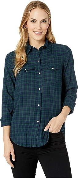 Yarn-Dye Twill Long Sleeve Shirt