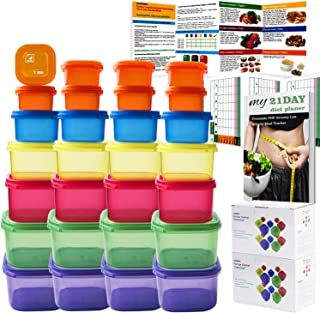 GAINWELL 21 Day Portion Control Container kit - 28 Pieces