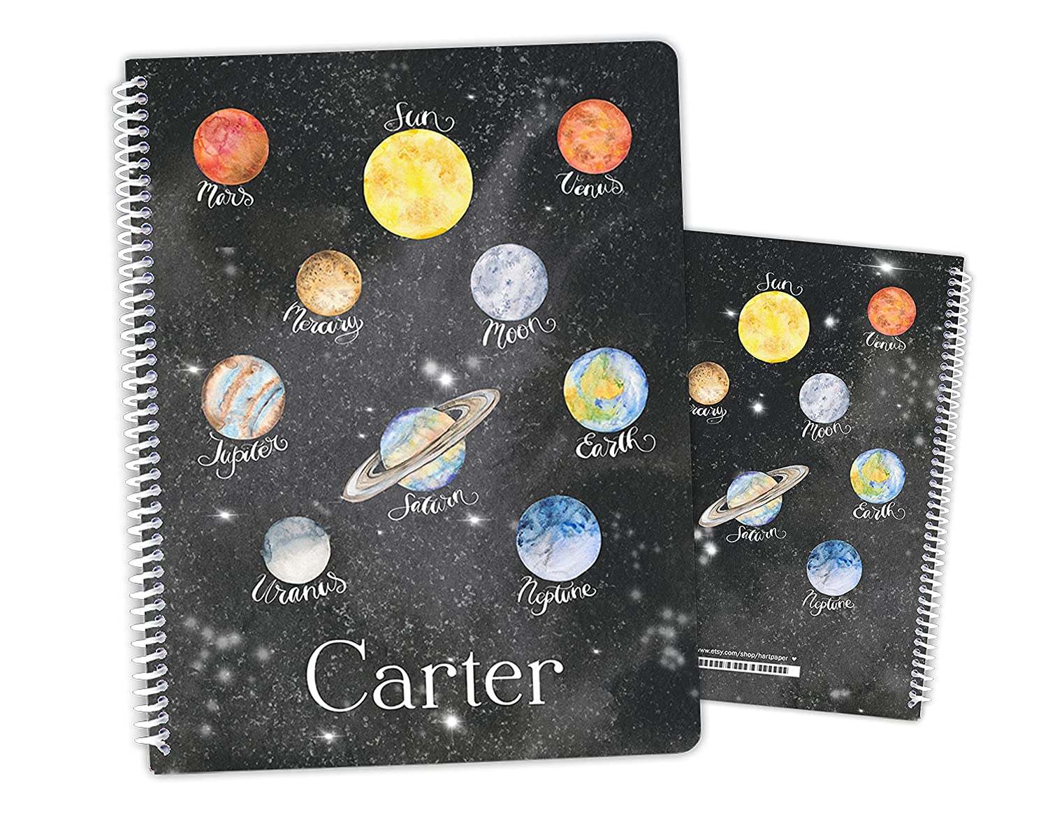 Personalized Planets low-pricing Space Galaxy Elegant Outer Notebook Sk Bound Spiral