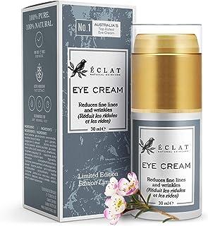 Augencreme von Eclat - Feuchtigkeitsspendende Augencreme gegen Krähen Füße, geschwollene Augen und Augenringe - Mit beruhigendem Haferextrakt - Anti-Aging Augencreme Feuchtigkeitsspendend