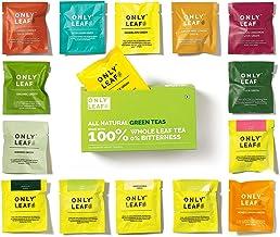 Onlyleaf 100% Natural Immunity Boosting Green Tea Sampler Box, 15 Tea Bags