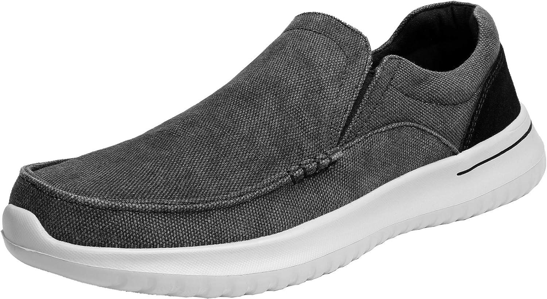 Bruno Marc Men's Slip-On Canvas Sneaker Loafer Lightweight Walking Shoes