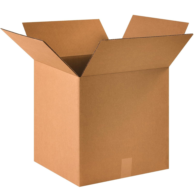 BOX USA B161616 Corrugated Boxes Kraft Pack of 25 16L x 16W x 16H