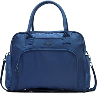 Lily & Drew Carry On Weekender Overnight Travel Shoulder Bag for 15.6 Inch Laptop Computers for Women Medium blue LWO0011-N