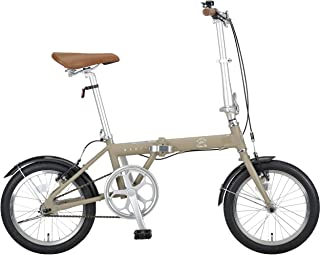 キャプテンスタッグ(CAPTAIN STAG) AL 16インチ 折りたたみ自転車 アルミフレーム [ 重量約10.5kg / ハンドル高さ調整/前後V型ブレーキ/SHIMANOパワーモジュレーター/高ギア比設定/前後泥よけ ] 標準装備 AL...