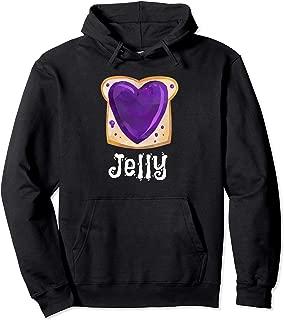Peanut Butter & Jelly Purple PB&J Matching Twins Halloween  Pullover Hoodie