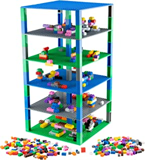 Strictly Briks Brik Tower | 6 32x32 Baseplates and 50 Stackers | Building Bricks and Blocks for Kids | multicolored 678901...