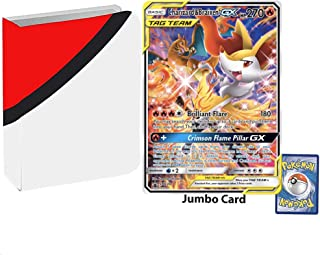 Totem World Bundle Jumbo Oversized Charizard & Braixen GX Tag Team Generations Promo Pokemon Card with a Totem Jumbo Binder Collectors Album