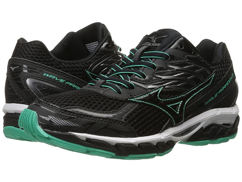 Mizuno Wave Paradox 3 (Black/Electric Green/White) Girls Shoes
