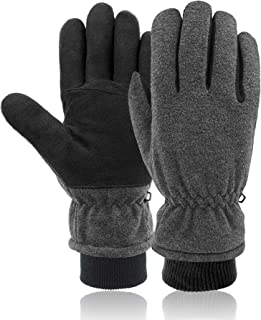 SKYDEER -30°F Cold-Proof Winter Gloves Pro with Soft Deerskin Suede Leather and Warm 3M Thinsulate Insulation (SD8661KW)